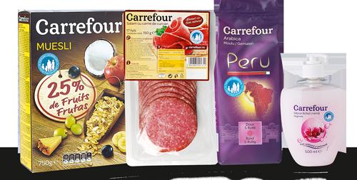 Produsele Marca Proprie Carrefour au aceeasi calitate ca marcile foarte cunoscute, dar la preturi cu minimum 20% mai mici