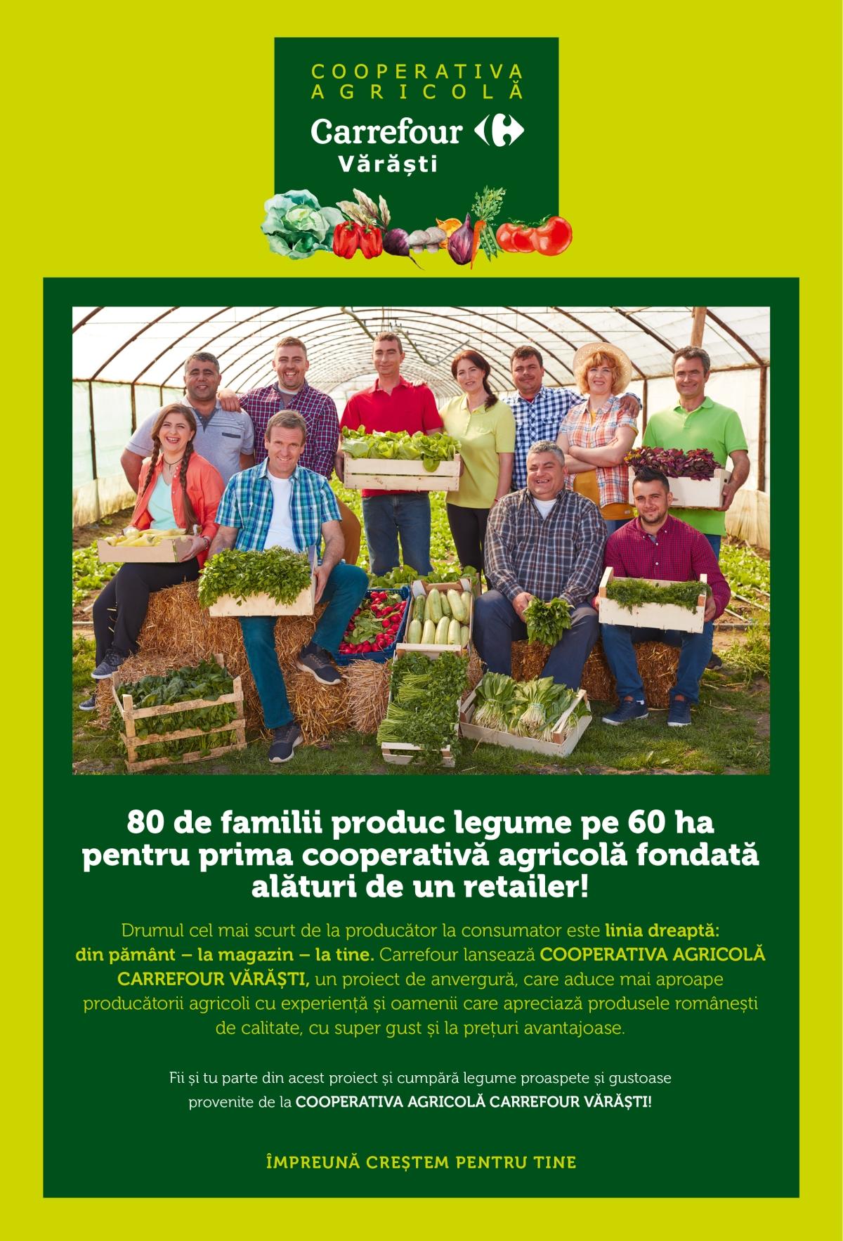 Grupul Carrefour lansează Cooperativa Agricolă Carrefour Vărăști și scurtează drumul de la producătorii români la clienți