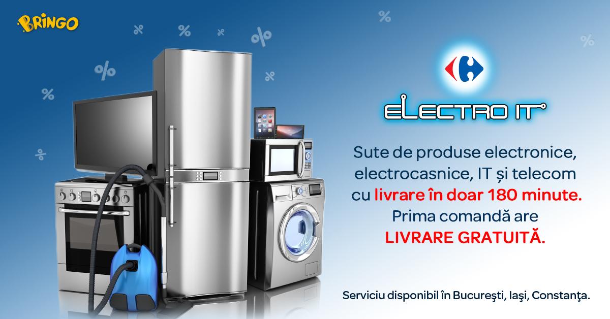 Carrefour România extinde secțiunea de produse electro-IT  a platformei BRINGO în Constanța și Iași