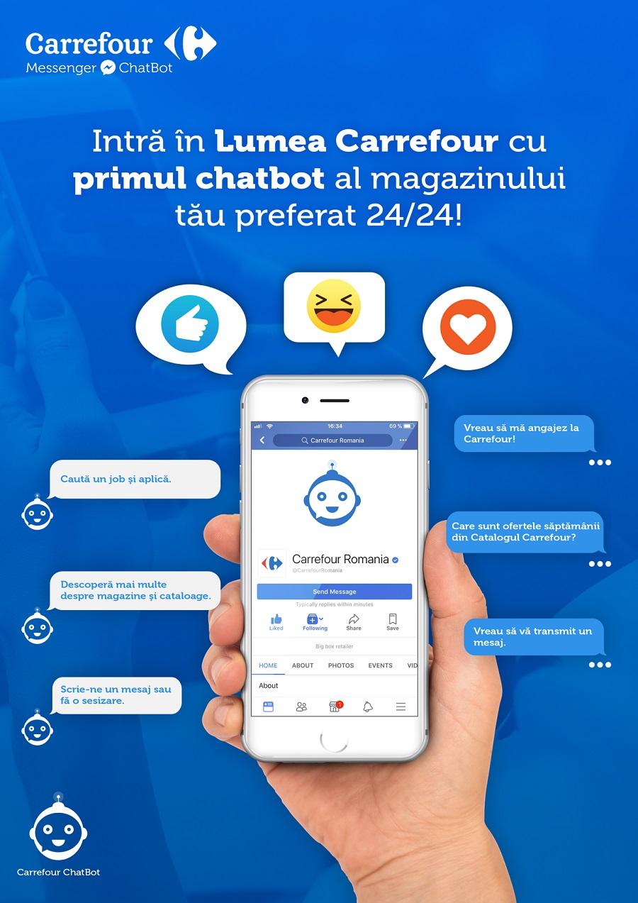 Carrefour aduce inovația în recrutare și lansează primul chatbot în retailul din România