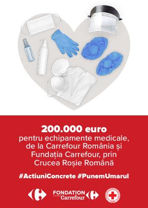 Carrefour România, prin Fundația Carrefour, donează 200.000 EUR către Crucea Roșie, pentru dotarea cu echipamente a spitalelor din țară