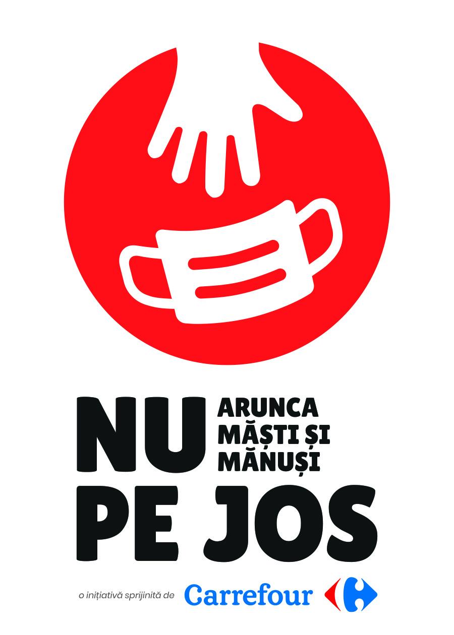 Carrefour România este primul retailer care se alătură inițiativei Nu Arunca Măști și Mănuși pe Jos