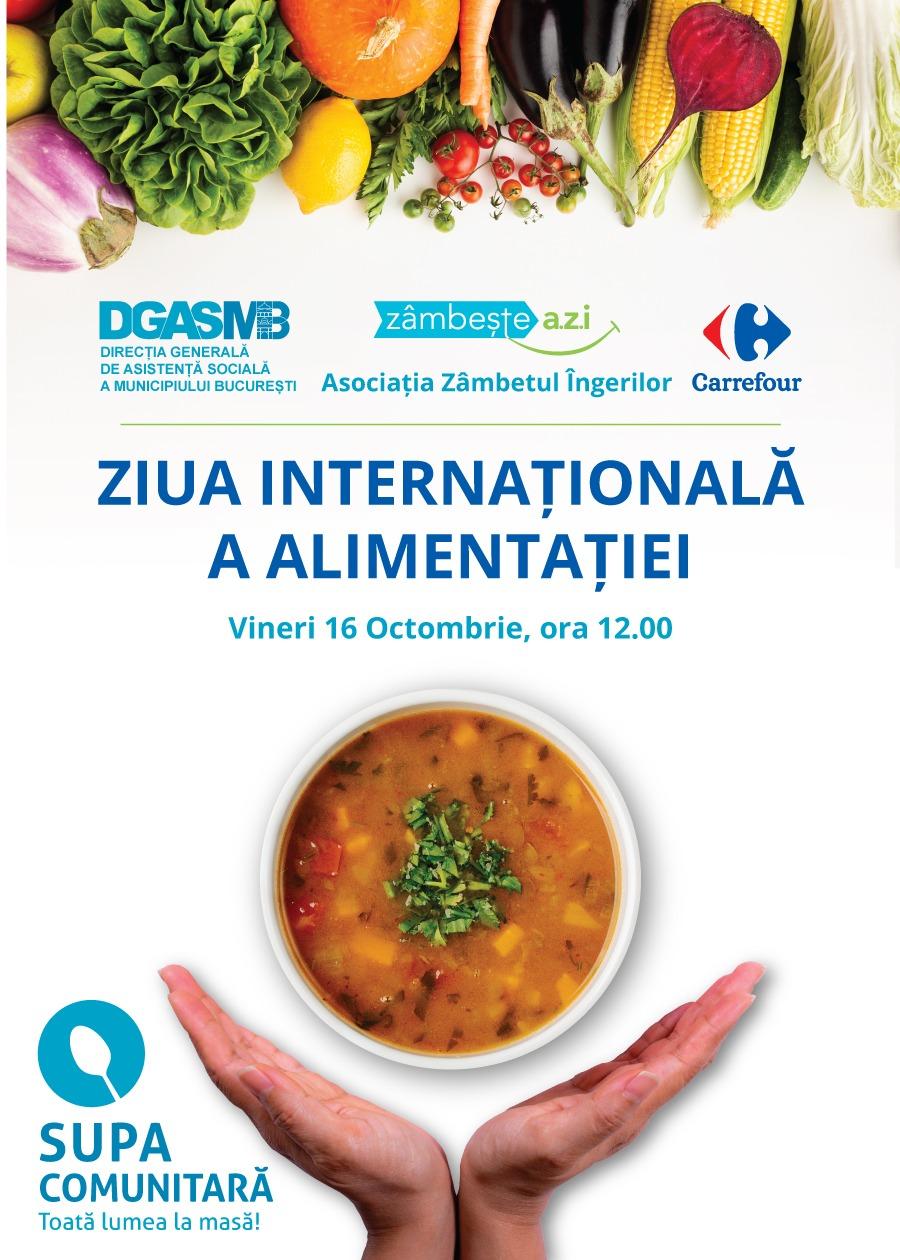 Start obiceiuri sănătoase, stop risipă!, un eveniment la a treia ediție, de Ziua Mondială a Alimentației