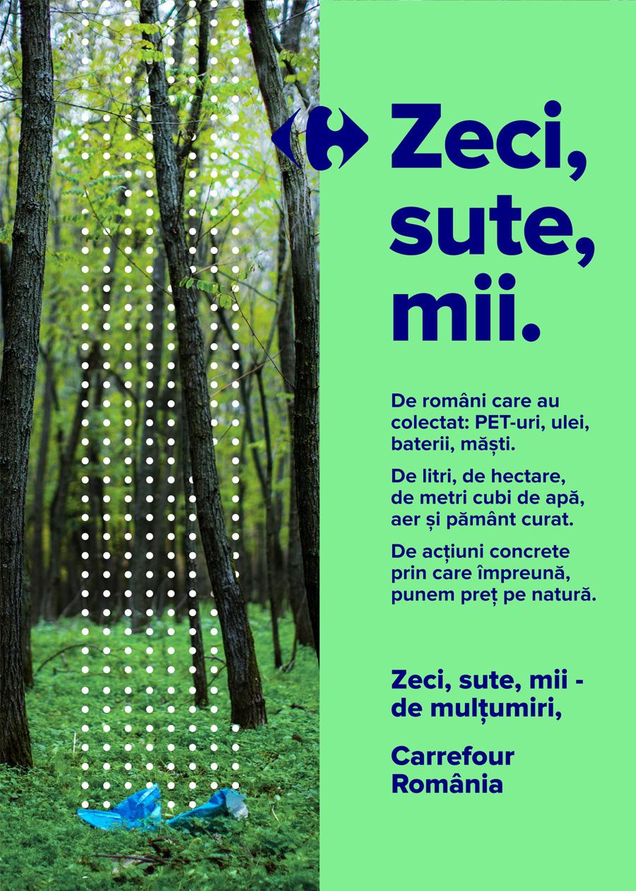 370.000 de PET-uri și 160.000 litri de ulei uzat, colectați în programul de economie circulară Carrefour, Punem Preț Pe Plastic
