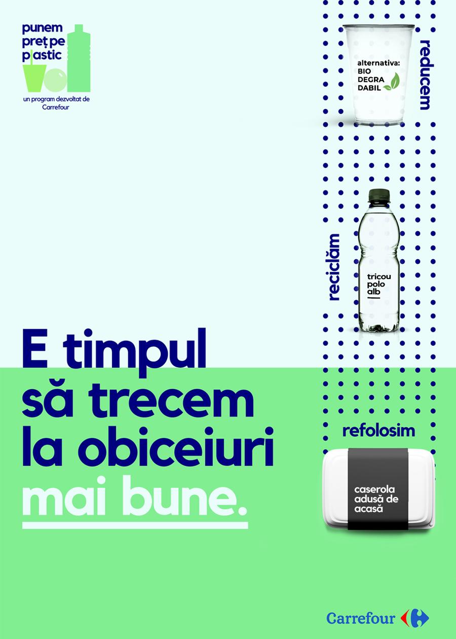 Carrefour propune clienților să treacă la obiceiuri mai bune printr-un consum responsabil de resurse și o serie de acțiuni concrete
