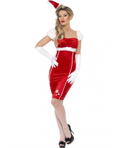 Costum craciunita adult rochie Pin Up   L