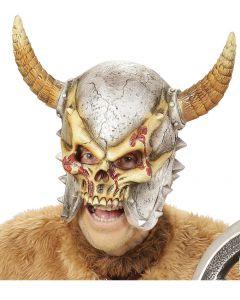 Masca latex Saurian cu coarne cu solzi