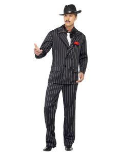 Costum gangster barbati negru   L