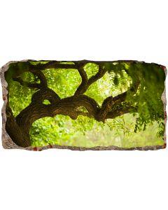 Fototapet 3D Startonight Copac verde, luminos in intuneric, 2.20 x 1.20 m