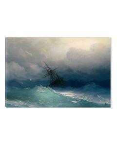 Tablou DualView Startonight Aivazovschy Ship On Stormy Seas, luminos in intuneric, 40 x 60 cm