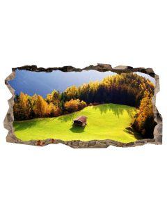 Fototapet 3D Startonight Refugiu montan, luminos in intuneric, 2.20 x 1.20 m