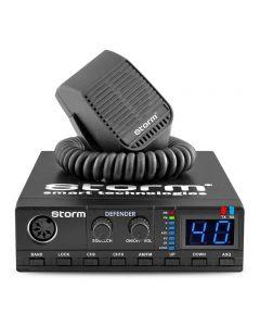 Statie radio CB Storm Defender, putere 4W, tehnologie SMD, indicator receptie si transmisie