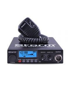Statie radio CB Storm Matrix 20, tehnologie SMD, control Squelch, 40 de canale