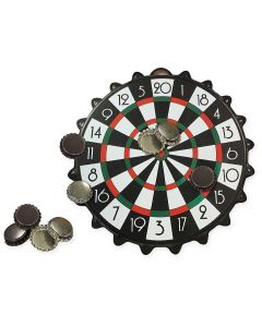 Mini Joc Darts Magnetic Bottle Cap cu 10 capace magnetice, 24 cm
