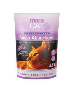 Nisip litiera pisici, Maravet Maracat, Absorbant Silicat Lavanda, 3.8 L