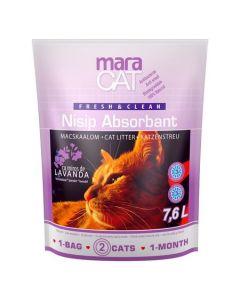Nisip litiera pisici, Maravet Maracat, Absorbant Silicat Lavanda, 7.6 L