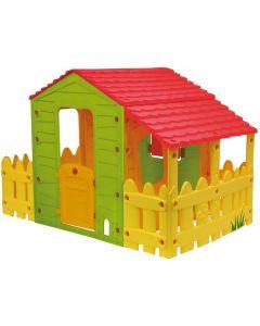 Casuta pentru copii Fun Farm House cu gardut