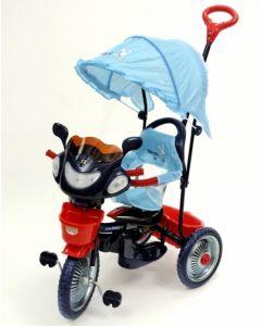 Tricicleta copii Dhs cu roti de metal Jolly Ride Albastru Rosu Albastru/Rosu