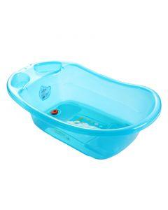 Cadita de baie cu dop de scurgere Little Mom Dots Blue
