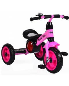 Tricicleta cu roti din cauciuc Byox Bonfire Pink