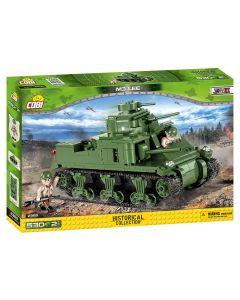 Set de constructie Cobi, Small army, tanc M3 Lee (530pcs)