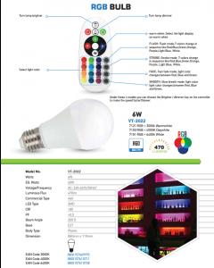 Bec LED V-TAC A60 RGB + Neutru 4000K