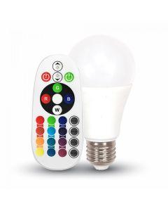 Bec LED V-TAC A60 RGB + Neutru 3000K