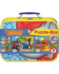 Set de 4 puzzleuri Schmidt pentru copii 2×26, 2×48 piese Benjamin Blümchen: Benjamin, elefantul