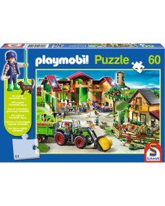 Puzzle Schmidt pentru copii 60 piese playmobil: La fermă