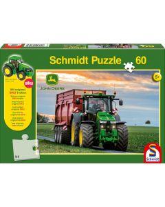 Puzzle Schmidt pentru copii 60 piese John Deere: Tractor 8370