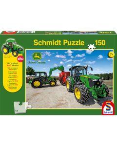 Puzzle Schmidt pentru copii 150 piese John Deere: Tractor seria 5M