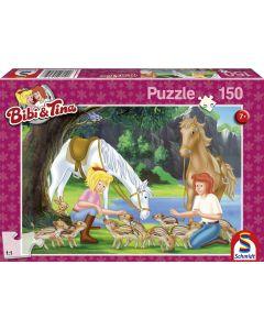 Puzzle Schmidt pentru copii 150 piese Bibi & Tina: Lânga cariera de piatră