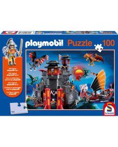 Puzzle Schmidt pentru copii 100 piese playmobil: Asia, ținutul dragonilor