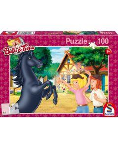 Puzzle Schmidt pentru copii 100 piese Bibi & Tina: Armăsarul neîmblânzit