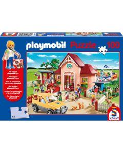 Puzzle Schmidt pentru copii 100 piese playmobil: La veterinar