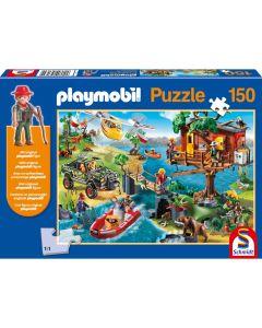 Puzzle Schmidt pentru copii 150 piese playmobil: Căsuța din copac