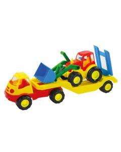 Camion Transportor de Tractoare Multicolor