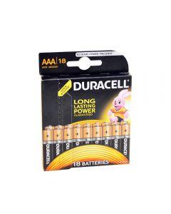 Baterie alcalina Duracell AAA sau R3 cod 81483686 blister cu 18bc