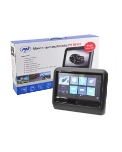 Monitor auto multimedia PNI DB900 negru cu ecran tactil de 9 inch, DVD player, slot card SD si USB, aplicabil pe tetiera
