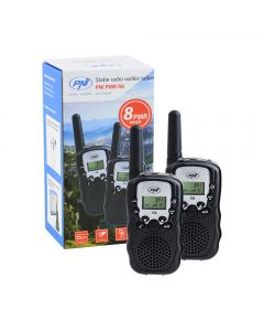 Statie radio walkie talkie PNI PMR R8 emisie receptie, set 2 buc
