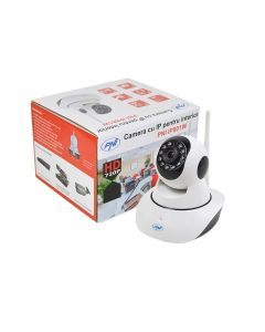 Camera supraveghere video PNI IP801W 720P cu IP P2P PTZ wireless, slot card microSD