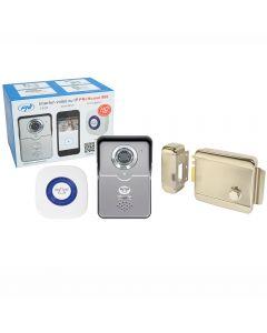 Kit Interfon video cu IP PNI House 900 si Yala electromagnetica PNI H1073A din otel
