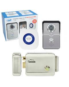 Kit Interfon video cu IP PNI House 900 si Yala electromagnetica SilverCloud YR300 cu butuc