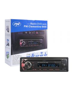 Radio DVD auto PNI Clementine 9440 1 DIN radio FM, SD, USB, iesire video