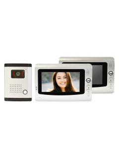 Interfon video cu 2 monitoare model PNI DF-926-2 cu ecran LCD de 7 inch