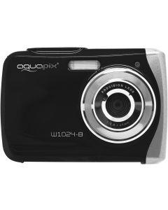 Camera Foto Subacvatica EasyPix W1024 Splash, 16 MPx, Afisare Data, Negru + Bonus Minitrepied Flexibil