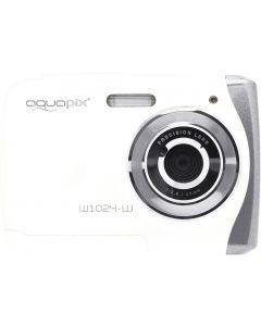 Camera Foto Subacvatica EasyPix W1024 Splash, 16 MPx, Afisare Data, Alb + Bonus Minitrepied Flexibil