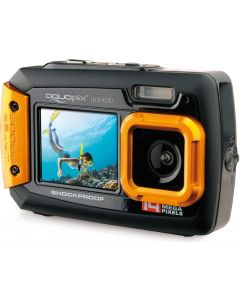 Camera Foto Subacvatica AquaPix W1400 Portocaliu + BONUS: 32GB mSD, Husa si Minitrepied Flexibil