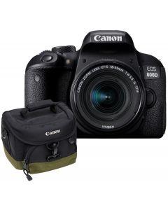 Aparat Foto Canon EOS 800D cu Obiectiv 18-55mm f/4-5.6 STM, Premium KIT, Include Rucsac Canon BAG300