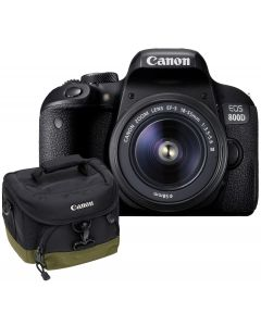 Aparat Foto Canon EOS 800D cu Obiectiv 18-55mm f/3.5-5.6 DC III, Premium KIT, Include Rucsac Canon BAG300